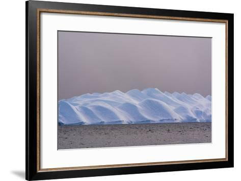 An Iceberg in Ilulissat Icefjord, an UNESCO World Heritage Site, on a Cloudy Day-Sergio Pitamitz-Framed Art Print