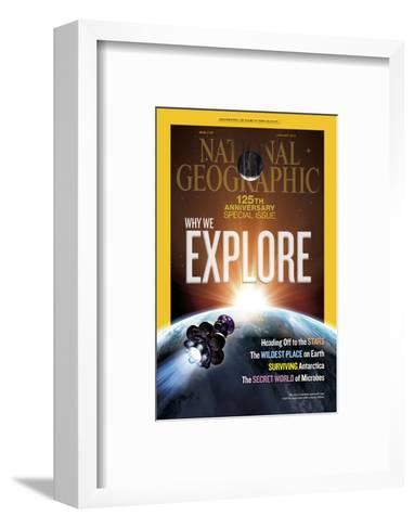 Cover of the January, 2013 National Geographic Magazine-Dana Berry-Framed Art Print