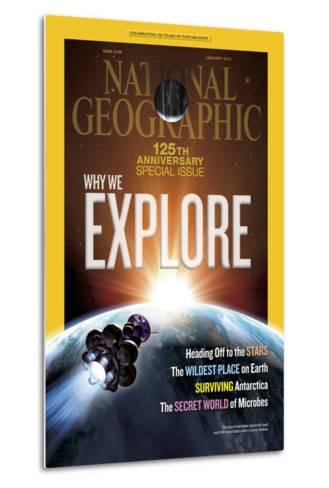 Cover of the January, 2013 National Geographic Magazine-Dana Berry-Metal Print
