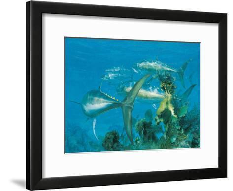 Bluefin Tuna, 'Right Turn at Cay Sal,' 1975-Stanley Meltzoff-Framed Art Print