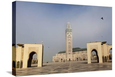 The Plaza in Front of the Hassan Ii Mosque, the Largest Mosque in Africa-Richard Nowitz-Stretched Canvas Print