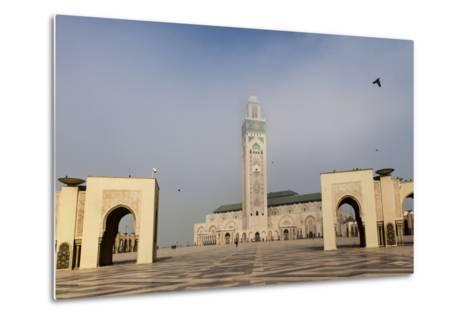 The Plaza in Front of the Hassan Ii Mosque, the Largest Mosque in Africa-Richard Nowitz-Metal Print