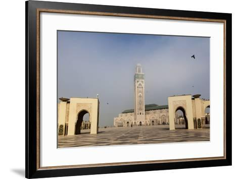 The Plaza in Front of the Hassan Ii Mosque, the Largest Mosque in Africa-Richard Nowitz-Framed Art Print