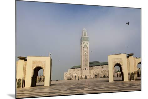 The Plaza in Front of the Hassan Ii Mosque, the Largest Mosque in Africa-Richard Nowitz-Mounted Photographic Print