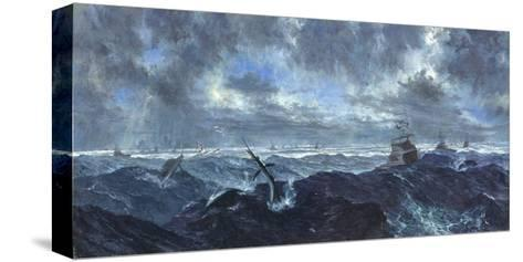 Heavy Seas and Leaping Fish: Master's Tournament, January, 1978-Stanley Meltzoff-Stretched Canvas Print