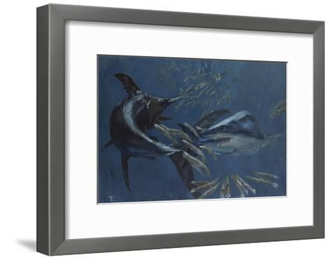 Broadbill, Mako and Sea Arrows, New Jersey, 1988-Stanley Meltzoff-Framed Art Print