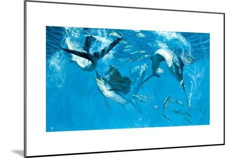 Four Leaping Sailfish and Halfbeak, 1988-Stanley Meltzoff-Mounted Giclee Print