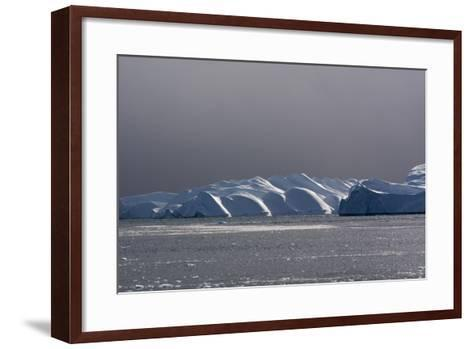 Icebergs and Melting Pack Ice in Ilulissat Icefjord, an UNESCO World Heritage Site-Sergio Pitamitz-Framed Art Print