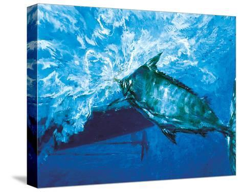 At the Boat, 1976: a Trophy Blue Marlin Is Brought to the Boat at the End of an Epic Battle-Stanley Meltzoff-Stretched Canvas Print