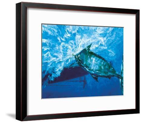 At the Boat, 1976: a Trophy Blue Marlin Is Brought to the Boat at the End of an Epic Battle-Stanley Meltzoff-Framed Art Print