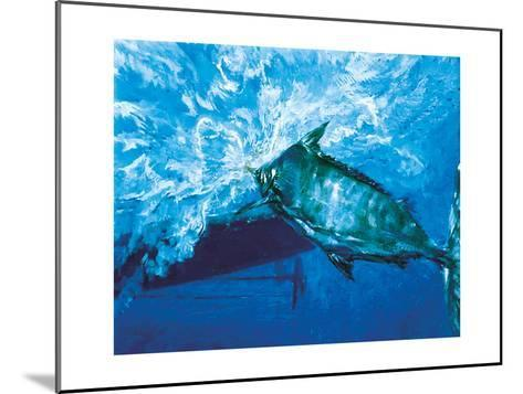 At the Boat, 1976: a Trophy Blue Marlin Is Brought to the Boat at the End of an Epic Battle-Stanley Meltzoff-Mounted Giclee Print