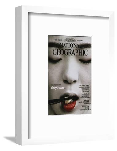 Cover of the July, 1987 National Geographic Magazine-Chris Johns-Framed Art Print