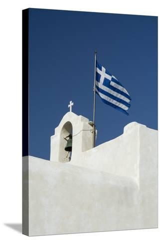 The Greek National Flag Atop a Ai Yiannis Detis Monastery-Sergio Pitamitz-Stretched Canvas Print