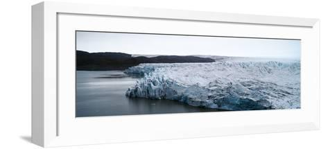 The Fracture Zone of a Glacier on the Greenland Ice Sheet Ending in a Lake-Jason Edwards-Framed Art Print