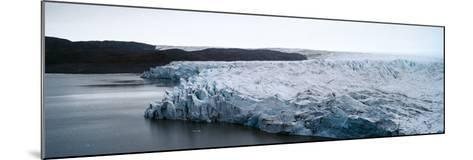 The Fracture Zone of a Glacier on the Greenland Ice Sheet Ending in a Lake-Jason Edwards-Mounted Photographic Print