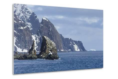 A Scenic View of Cape Valentine on Elephant Island, Antarctica-Ralph Lee Hopkins-Metal Print