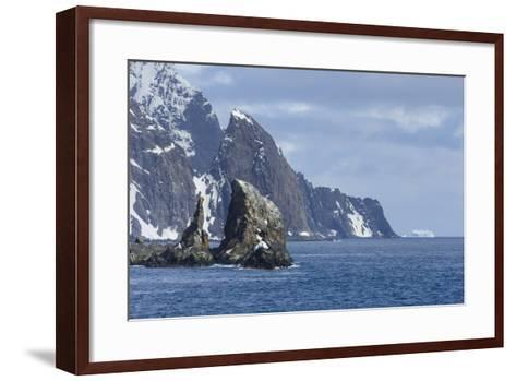 A Scenic View of Cape Valentine on Elephant Island, Antarctica-Ralph Lee Hopkins-Framed Art Print