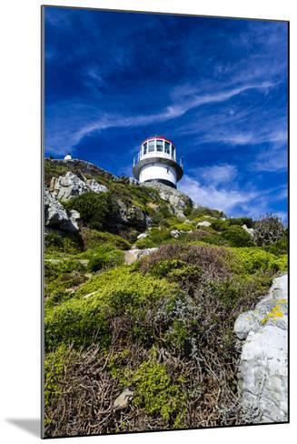 An Antique Lighthouse Summits a Cliff Near the Cape of Good Hope-Jason Edwards-Mounted Photographic Print