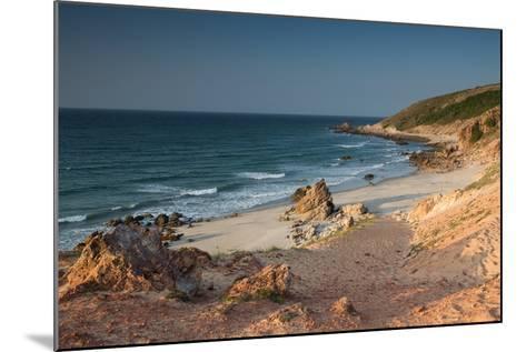 Pedra Furada Near Jericoacoara, at Sunset-Alex Saberi-Mounted Photographic Print