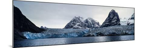 The Sheer Fracture Zone of a Glacier Sandwiched Between Alpine Peaks in a Fjord-Jason Edwards-Mounted Photographic Print