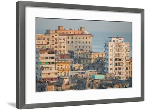 Buildings in Havana, Cuba with the Gulf of Mexico in the Background-Erika Skogg-Framed Art Print