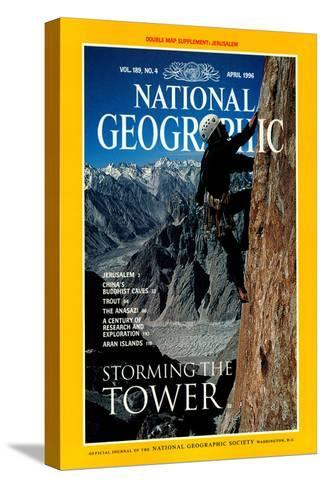 Cover of the April, 1996 National Geographic Magazine-Bill Hatcher-Stretched Canvas Print
