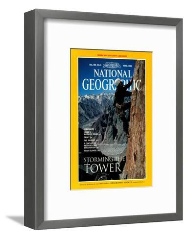 Cover of the April, 1996 National Geographic Magazine-Bill Hatcher-Framed Art Print