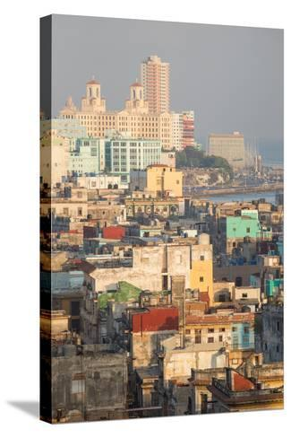 Buildings in Havana, Cuba with the Gulf of Mexico in the Background-Erika Skogg-Stretched Canvas Print