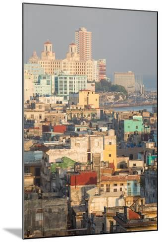 Buildings in Havana, Cuba with the Gulf of Mexico in the Background-Erika Skogg-Mounted Photographic Print