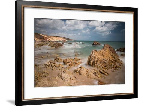 A Long Exposure During the Day by the Rock Formations Near Pedra Furada, Jericoacoara, Brazil-Alex Saberi-Framed Art Print