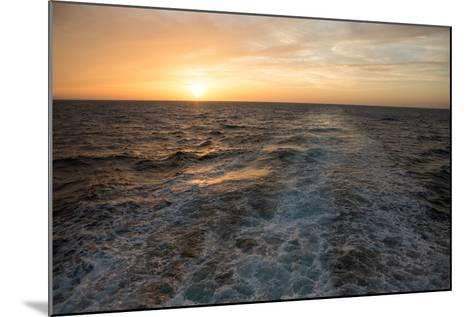The Sun Rises Above the Horizon as Waves and Wake are Visible, Isla Coiba National Park-Eric Kruszewski-Mounted Photographic Print