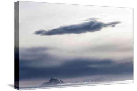 The Frozen Landscape Off Isfjorden, Spitsbergen Island-Kent Kobersteen-Stretched Canvas Print