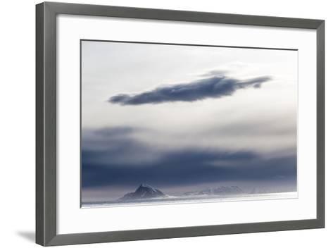The Frozen Landscape Off Isfjorden, Spitsbergen Island-Kent Kobersteen-Framed Art Print