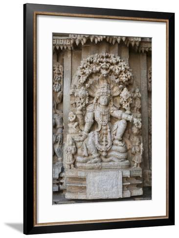 An Elaborate Carving of the Hindu God Vishnu-Kelley Miller-Framed Art Print