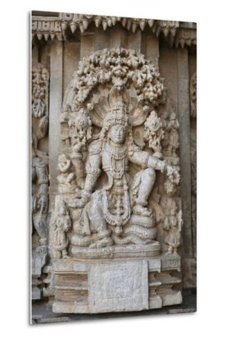 An Elaborate Carving of the Hindu God Vishnu-Kelley Miller-Metal Print