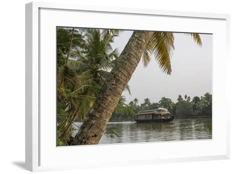 A Houseboat Carries Locals and Tourists Through the Backwaters-Kelley Miller-Framed Art Print