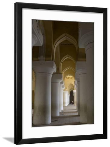 Large Pillars Line the Interior of Thirumalai Nayak Palace-Kelley Miller-Framed Art Print