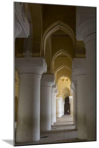 Large Pillars Line the Interior of Thirumalai Nayak Palace-Kelley Miller-Mounted Photographic Print