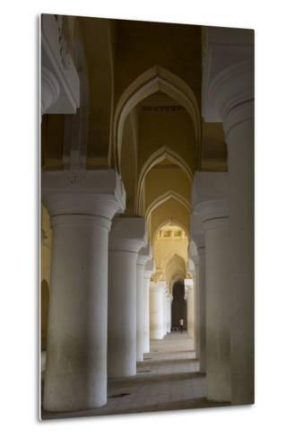 Large Pillars Line the Interior of Thirumalai Nayak Palace-Kelley Miller-Metal Print