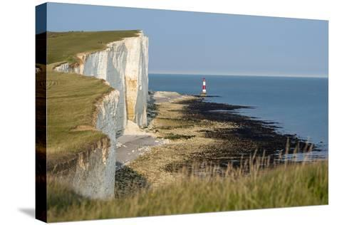 Looking Towards the Cliffs Near Beachy Head and the Lighthouse-Alex Treadway-Stretched Canvas Print