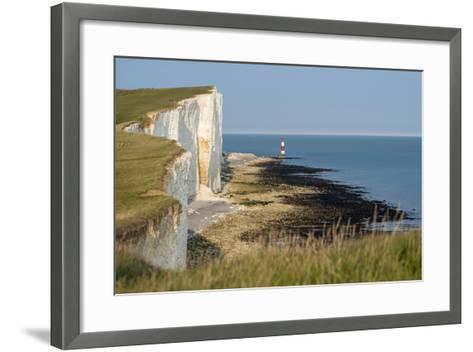 Looking Towards the Cliffs Near Beachy Head and the Lighthouse-Alex Treadway-Framed Art Print