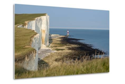 Looking Towards the Cliffs Near Beachy Head and the Lighthouse-Alex Treadway-Metal Print