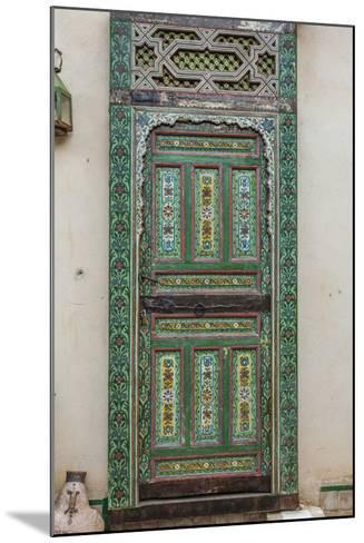 A Painted Door in Le Jardin Des Biehn, a Riad or Small Hotel in the Medina of Fez-Richard Nowitz-Mounted Photographic Print