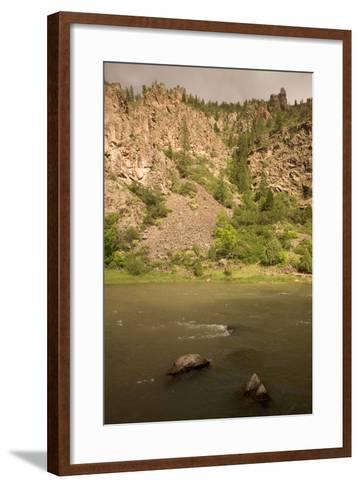 The Gunnison River on the Extreme Eastern Edge of Black Canyon of the Gunnison National Park-Phil Schermeister-Framed Art Print