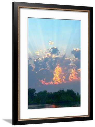 A Magnificent Sunset Sky over Rural Montana-Gordon Wiltsie-Framed Art Print