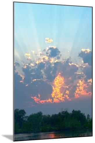 A Magnificent Sunset Sky over Rural Montana-Gordon Wiltsie-Mounted Photographic Print