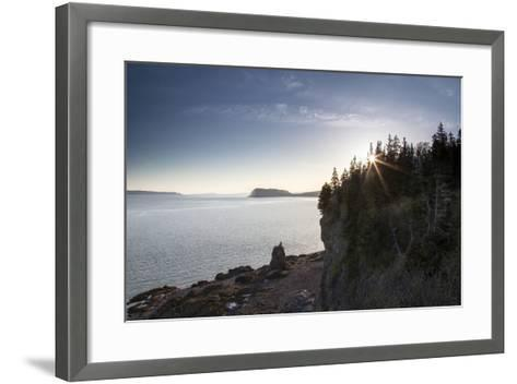 The Seascape from a Rocky Overlook-Robbie George-Framed Art Print