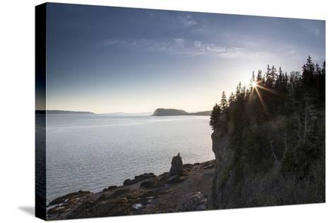 The Seascape from a Rocky Overlook-Robbie George-Stretched Canvas Print