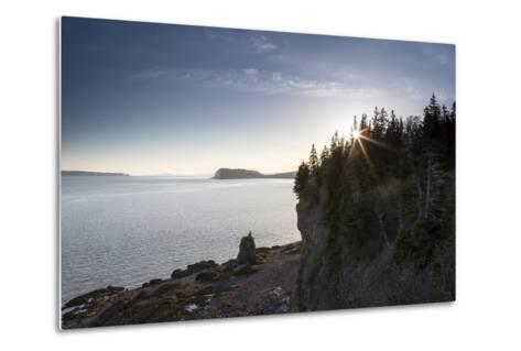The Seascape from a Rocky Overlook-Robbie George-Metal Print