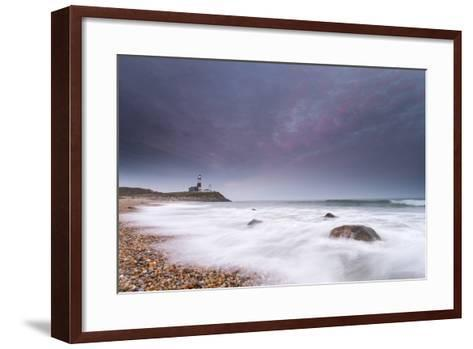 Montauk Point Lighthouse at Dusk-Robbie George-Framed Art Print